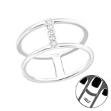 Line - 925 Sterling Silver Midi Rings SD29450