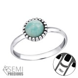 Round - 925 Sterling Silver Midi Rings SD30308