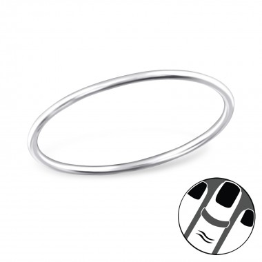 0.8Mm Band - 925 Sterling S...