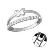 Butterfly - 925 Sterling Silver Midi Rings SD36518