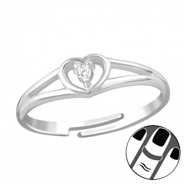 Heart - 925 Sterling Silver Midi Rings SD38560