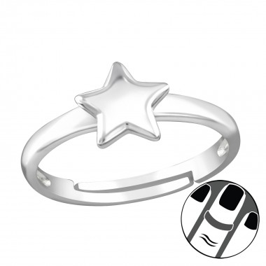 Star - 925 Sterling Silver Midi Rings SD38561