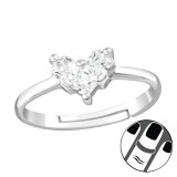 Heart - 925 Sterling Silver Midi Rings SD38563