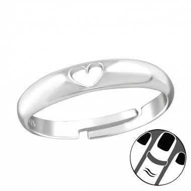 Heart - 925 Sterling Silver Midi Rings SD38564