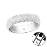 6mm Diamond Dust - 925 Sterling Silver Midi Rings SD38869