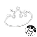 November-Sagittarius - 925 Sterling Silver Midi Rings SD39338