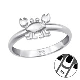 Crab - 925 Sterling Silver Midi Rings SD39832