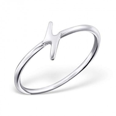Thunderbolt - 925 Sterling Silver Simple Rings SD20658