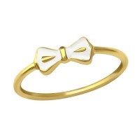 White Ribbon - 925 Sterling Silver Simple Rings SD23485