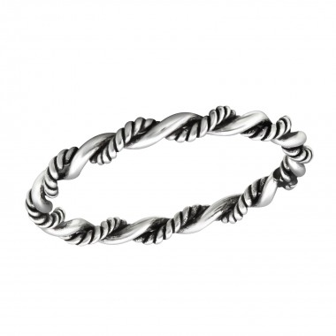 Twisted - 925 Sterling Silver Simple Rings SD32005