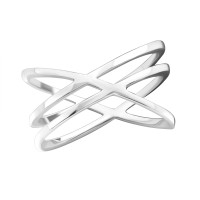 Intertwining - 925 Sterling Silver Simple Rings SD35812