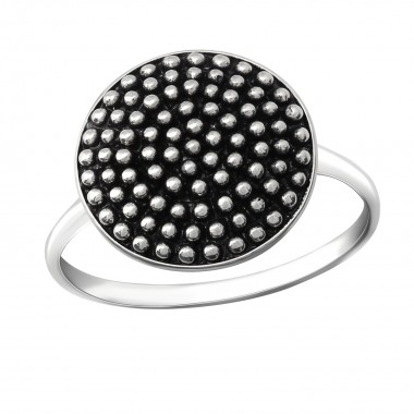 Round - 925 Sterling Silver Simple Rings SD36388