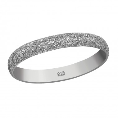 3mm Band - 925 Sterling Silver Simple Rings SD36399