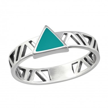 Triangle - 925 Sterling Silver Simple Rings SD36408