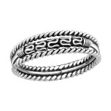 Bali - 925 Sterling Silver Simple Rings SD37945