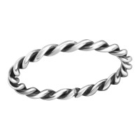 Rope - 925 Sterling Silver Simple Rings SD38311