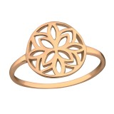 Flower - 925 Sterling Silver Simple Rings SD38517