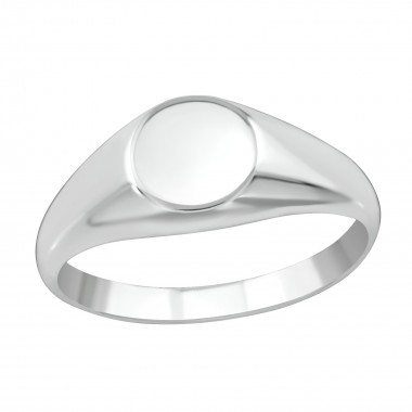Round - 925 Sterling Silver Simple Rings SD38657
