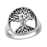 Tree Of Life - 925 Sterling Silver Simple Rings SD38963