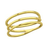 Intertwining - 925 Sterling Silver Simple Rings SD39437