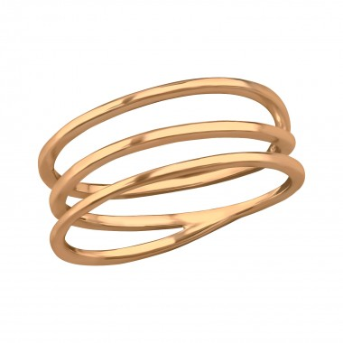 Intertwining - 925 Sterling Silver Simple Rings SD39438