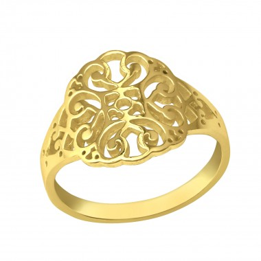 Patterned - 925 Sterling Silver Simple Rings SD39439