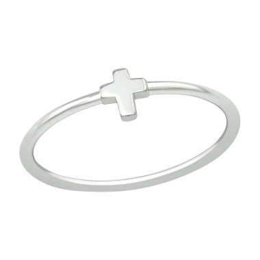 Cross - 925 Sterling Silver Simple Rings SD39499