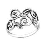 Leaf - 925 Sterling Silver Simple Rings SD39614