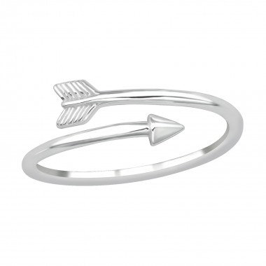 Arrow - 925 Sterling Silver Simple Rings SD39659