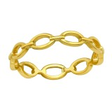 Chain - 925 Sterling Silver Simple Rings SD40055