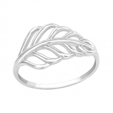 Leaves - 925 Sterling Silver Simple Rings SD40271
