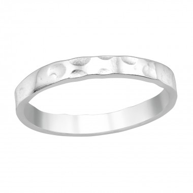 Patterned - 925 Sterling Silver Simple Rings SD40457