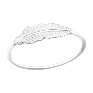 Feather - 925 Sterling Silver Simple Rings SD41070