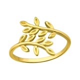 Olive Leaf - 925 Sterling Silver Simple Rings SD41651