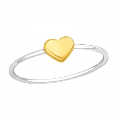 Heart - 925 Sterling Silver Simple Rings SD42199