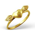 Winged heart - 925 Sterling Silver Simple Rings SD4581