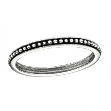 Gear - 925 Sterling Silver Simple Rings SD6489