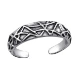 Patterned - 925 Sterling Silver Toe Rings SD27631
