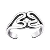 Double Heart - 925 Sterling Silver Toe Rings SD29407