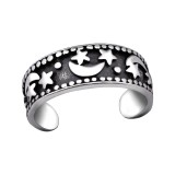 Moon And Star - 925 Sterling Silver Toe Rings SD29408