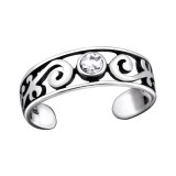 Patterned - 925 Sterling Silver Toe Rings SD29418