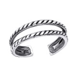 Oxidized - 925 Sterling Silver Toe Rings SD31757