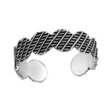 Patterned - 925 Sterling Silver Toe Rings SD37883