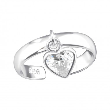 Heart - 925 Sterling Silver Toe Rings SD38369