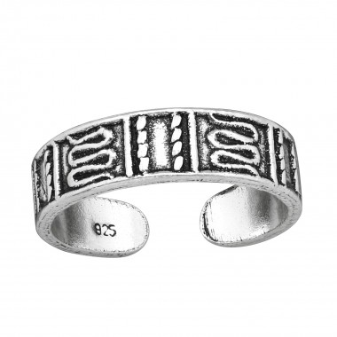 Patterned - 925 Sterling Silver Toe Rings SD38966