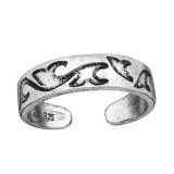Wave - 925 Sterling Silver Toe Rings SD38967