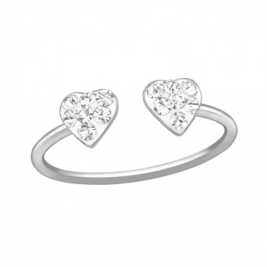 Double Heart - 925 Sterling Silver Toe Rings SD39444