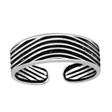 Curved Lines - 925 Sterling Silver Toe Rings SD41678