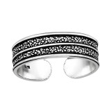 Grainy Texture - 925 Sterling Silver Toe Rings SD41734