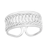 Patterned - 925 Sterling Silver Toe Rings SD42232